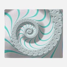 Beautiful Pastel Abstract Fractal Ar Throw Blanket