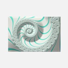 Beautiful Pastel Abstract Fractal Rectangle Magnet