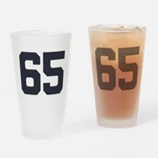 65 65th Birthday 65 Years Old Drinking Glass