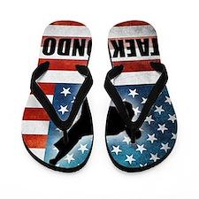 Taekwondo fighter USA American Flag Flip Flops