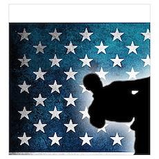 Taekwondo fighter USA American Flag Poster