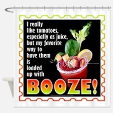 Tomatoes with Booze? Bloody Mary Shower Curtain
