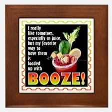 Tomatoes with Booze? Bloody Mary Framed Tile