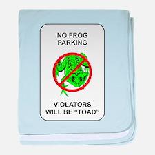No Frog Parking baby blanket