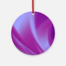 Veils of Purple Fractal Ornament (Round)