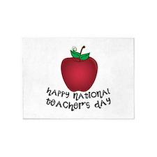 National Teachers Day 5'x7'Area Rug