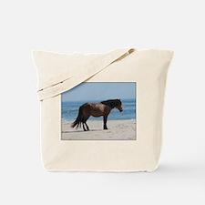 Wild Pony on Beach Tote Bag