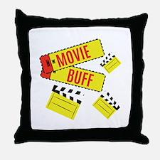 Movie Buff Throw Pillow
