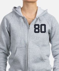 80 80th Birthday 80 Years Old Zip Hoodie