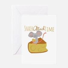 Snack Attack Time Greeting Cards