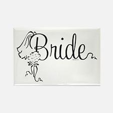Bride Bouquet Rectangle Magnet