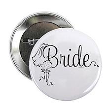 """Bride Bouquet 2.25"""" Button (10 pack)"""