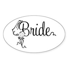 Bride Bouquet Oval Decal