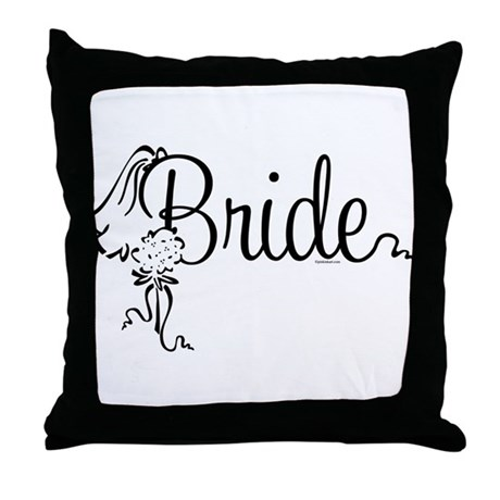 Bride Bouquet Throw Pillow