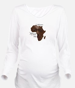 Africa was Born in M Long Sleeve Maternity T-Shirt