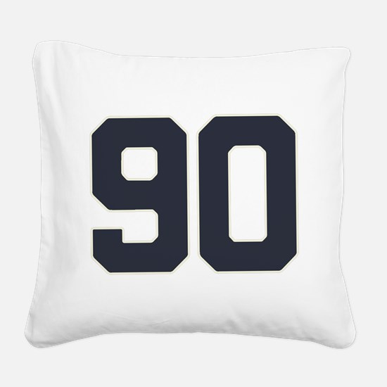 90 90th Birthday 90 Years Old Square Canvas Pillow