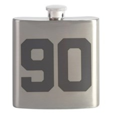 90 90th Birthday 90 Years Old Flask