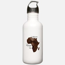 Africa was Born in Me Water Bottle