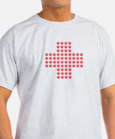 Marijuana Red Cross T-Shirt