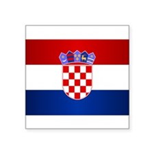 """Unique Croate Square Sticker 3"""" x 3"""""""
