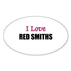 I Love RED SMITHS Oval Decal