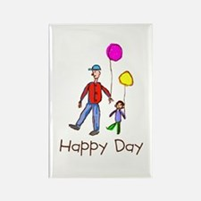 Kid Art Happy Day Rectangle Magnet