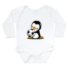I Love Soccer (5) Long Sleeve Infant Bodysuit