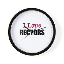 I Love RECTORS Wall Clock