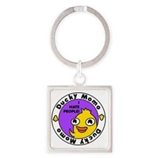 Cute Ducky Square Keychain