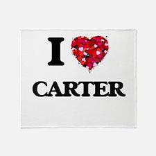 I Love Carter Throw Blanket