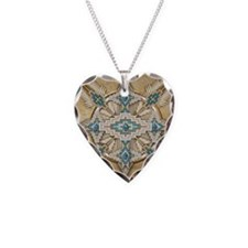 Native american Necklace Heart Charm