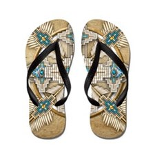 Funny Native american Flip Flops