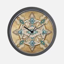 Funny Native indian Wall Clock