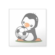 "I Love Soccer (5) Square Sticker 3"" x 3"""