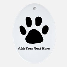 Paw Print Template Ornament (oval)