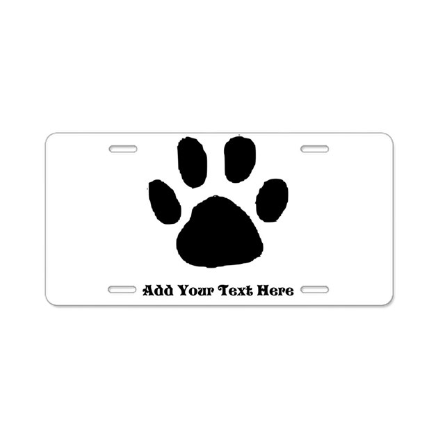 paw print template aluminum license plate by diy4. Black Bedroom Furniture Sets. Home Design Ideas