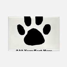 Paw Print Template Magnets