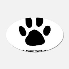 Paw Print Template Wall Decal