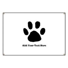 Paw Print Template Banner