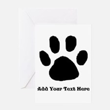 Paw Print Template Greeting Cards