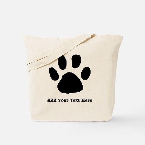Paw Print Template Tote Bag