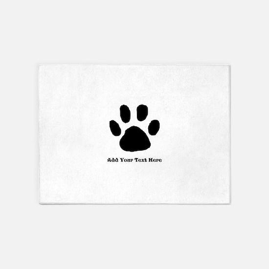 Paw print rugs paw print area rugs indooroutdoor rugs paw print template 5x7area rug pronofoot35fo Choice Image