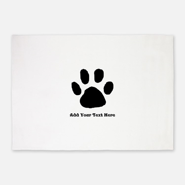 Paw Print Template 5'x7'Area Rug