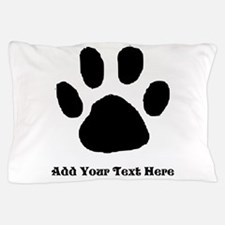 Paw Print Template Pillow Case