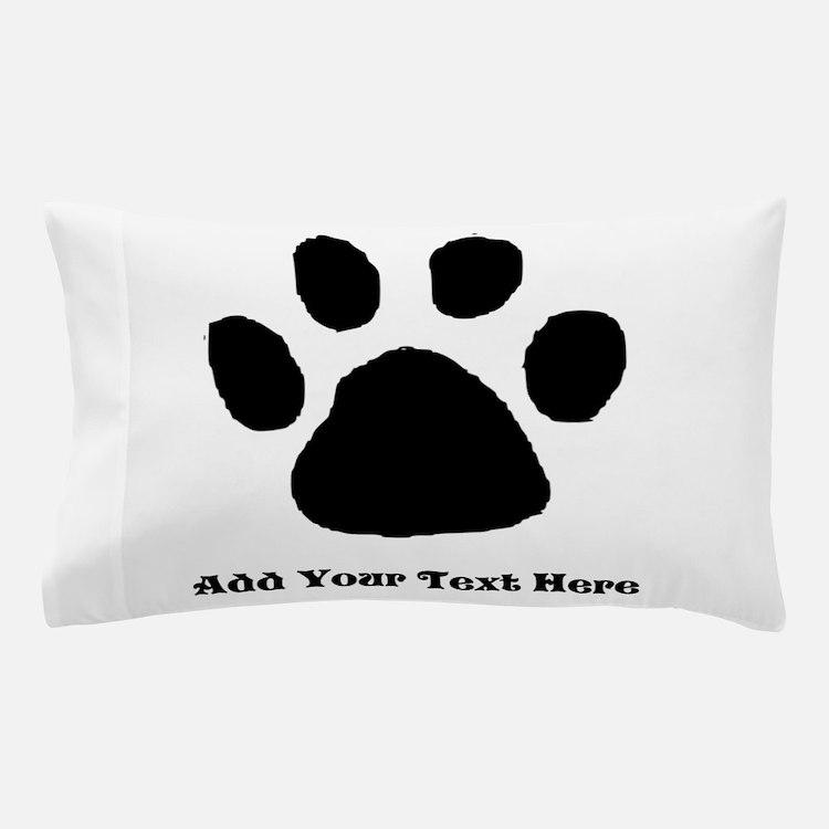 Paw Print Template Pillow Case