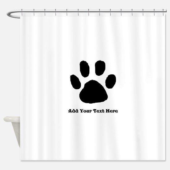Paw Print Template Shower Curtain