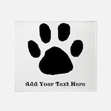 Paw Print Template Throw Blanket