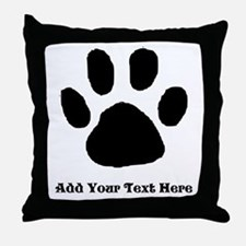 Paw Print Template Throw Pillow