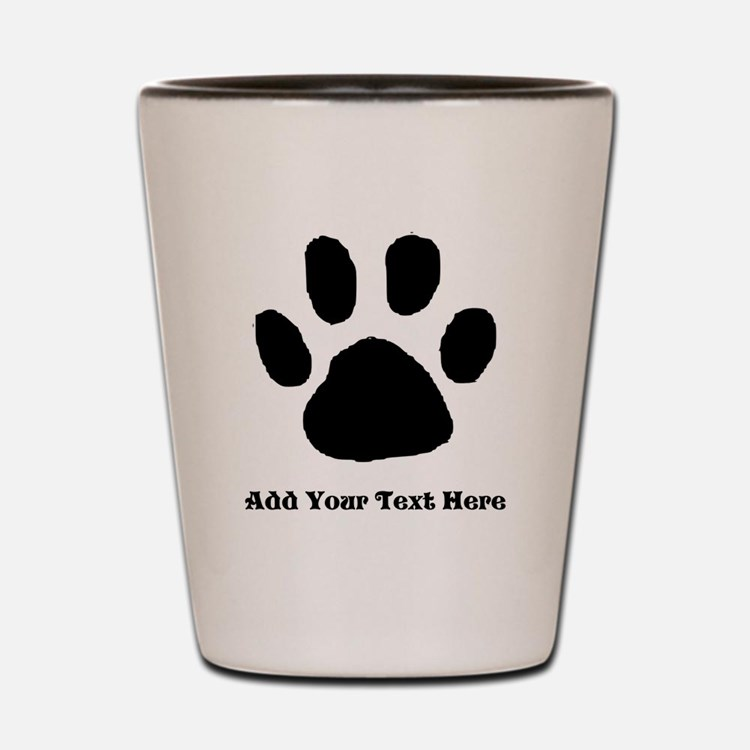 Paw Print Template Shot Glass