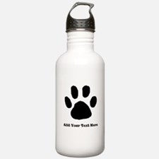 Paw Print Template Water Bottle